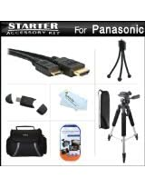 Starter Accessories Kit For The Panasonic Lumix DMC-GH3K DMC-GH3 Mirrorless Digital Camera Includes Deluxe Carrying Case + 57 Tripod w/ Case + Mini HDMI Cable + USB 2.0 Card Reader + Screen Protectors + Mini TableTop Tripod + MicroFiber Cleaning Cloth