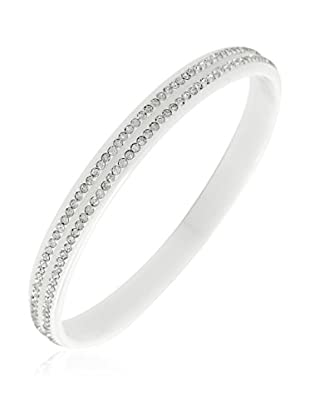 CERAM BY ART DE France Armband 2 Lines weiß