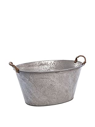 Skalny Galvanized Tin Tub, Silver