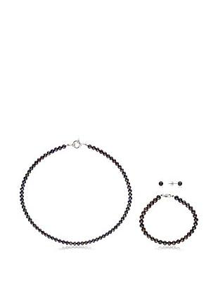 Pearls & Colors Conjunto de collar, pulsera y pendientes plata de ley 925 milésimas