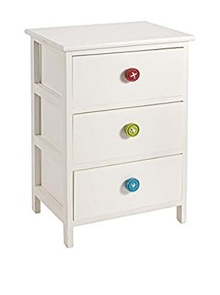 Schubladencontainer 3C Button weiß