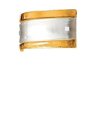 Linea Light Wandleuchte Ambra 30 weiß/gelb
