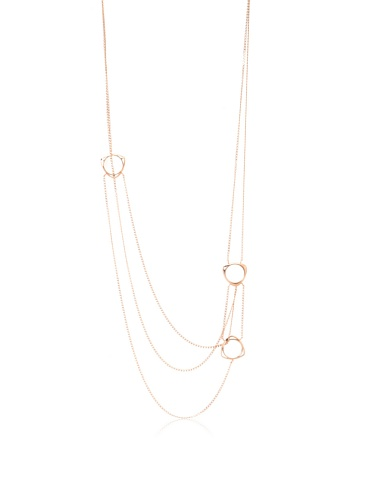 Katie Rowland Rose Gold & Black Lilith Tri Necklace