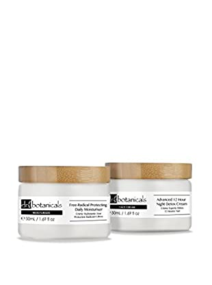 Dr Botanicals Feuchtigkeitscreme 2 tlg. Set Free-Radical Protecting Daily Moisturiser + Advanced 12 Hour Night Detox Cream