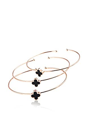 CHAMAY Set de brazaletes x 3 Roze gold toned
