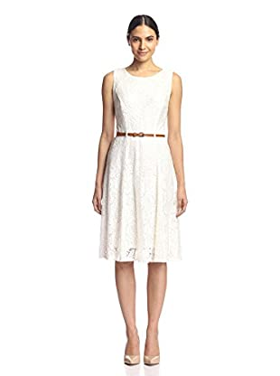Sharagano Women's Lace Fit-and-Flare