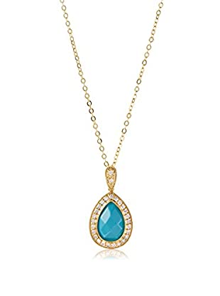 CZ by Kenneth Jay Lane Pear/CZ Drop Pendant On Chain Necklace