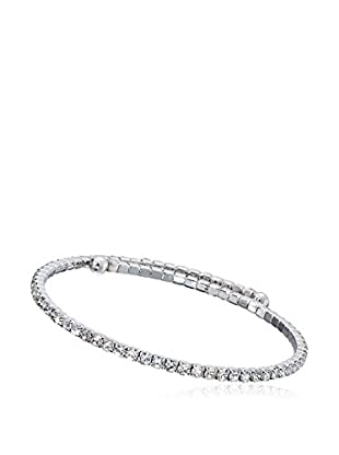 Riccova Country Chic Crystal Tennis-Style Wrap Bangle Bracelet, Silver