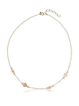 Cordoba Jewelles Collar plata de ley 925 milésimas bañada en oro