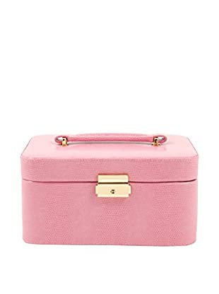 Bey-Berk Pink Lizard Leather Jewelry Box
