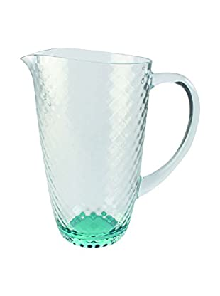 Textured Acrylic Pitcher, Clear/Green