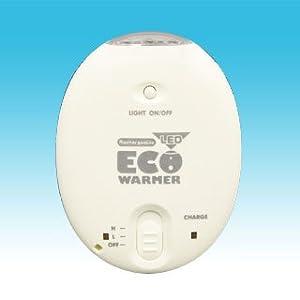【クリックで詳細表示】充電式カイロ+LEDライト LEDエコウォーマー J-323-WH ホワイト