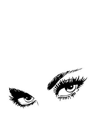 LO+DEMODA Wandtattoo Eyes -85X36-