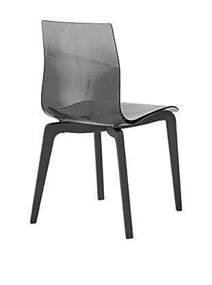 Domitalia Gel Chair, Transparent Smoke/Black