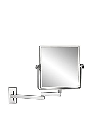 Nameeks Square Wall Mounted Double Face 3X Makeup Mirror, Chrome Finish