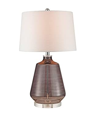 Artistic Lighting Smoked Glass Table Lamp, Grey Smoke
