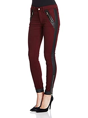 7 For All Mankind Pantalón Contrast Pieced Moto Contrast Pieced Moto