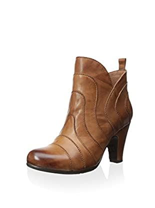 Chocolat Blu Women's Dahl Seamed Mid Heel Bootie (Brown Leather)