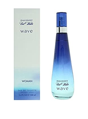 Davidoff Eau de Toilette Damen Cool Water Wave 100.0 ml, Preis/100 ml: 23.99 EUR
