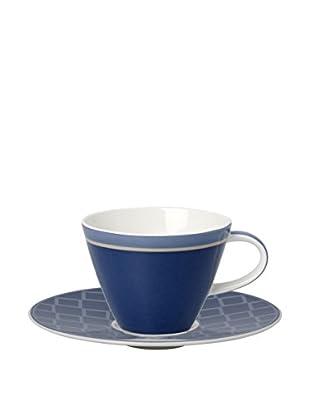 Villeroy & Boch AG Set Taza De Café 4 Uds. Caffe Club Uni Cornflower 0.22 L Azul/Blanco