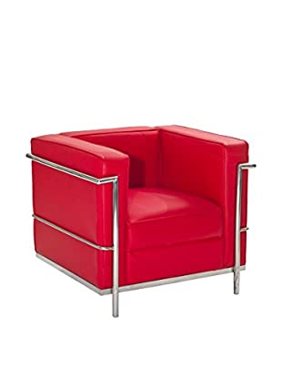 Modway Charles Petite Leather Armchair (Red)