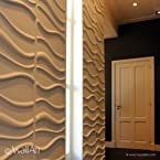 WallArt 3D Wall Panels - Waves ( 1 Box of 32.29 Sft)