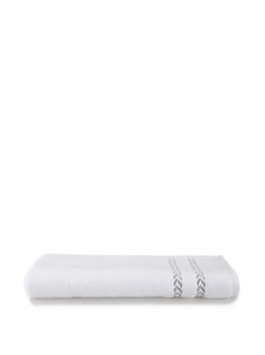 Lenox Pearl Essence Hand Towel (White/Smoke)