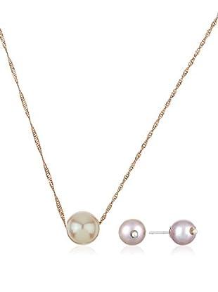 Silver Luxe Set collana e orecchini argento 925 bagnato oro