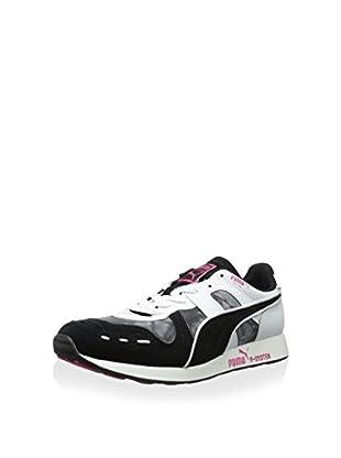 PUMA Men's Rs100 Dip Dye Classic Sneaker (Black/Beetroot Purple/White)