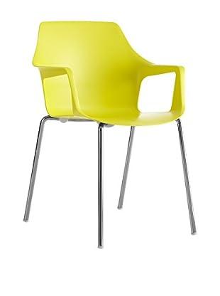 COLOS Stuhl 2er Set Vesper 2 gelb/chrom