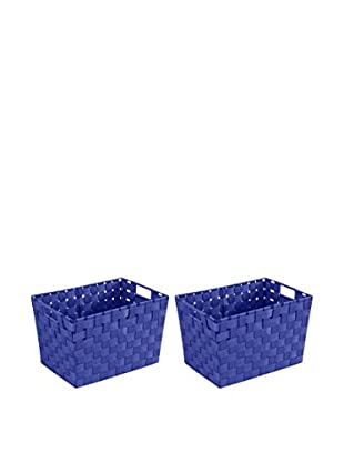 Wenko Aufbewahrungskorb 2er Set blau 35 x 20 x 25