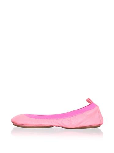 Yosi Samra Women's Neon Ballet Flat (Pink)