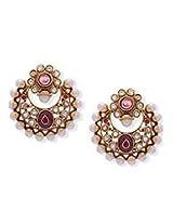 Beguiling Pink Polki Earrings
