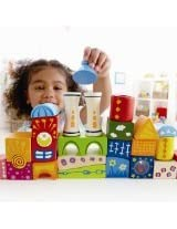 Early Explorer Preschool Kids Wooden Fantasia Blocks Castle