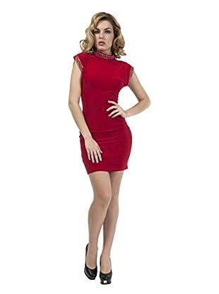 Via Bellucci Vestido Perla (Rojo)