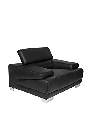 Furniture Contempo Melody Chair, Black/Chrome