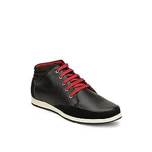 Incult Black Boots for Men