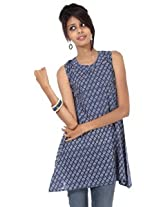 Rajrang Cotton Kurti - PTP00077 (Blue)