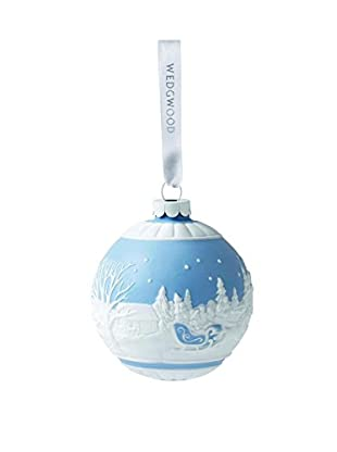 Wedgwood Sleigh Ride Ornament, Blue
