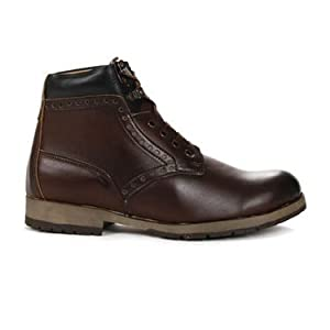 Brown Colored High Ankle Length Party Wear Genuine Leather Boots for Men by Bacca Bucci - Model Number 4600