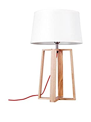 Lámpara De Sobremesa Arco Madera Haya