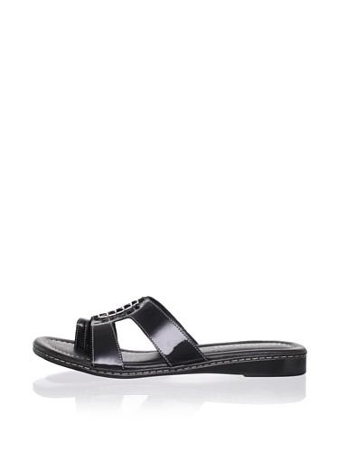Donald J Pliner Women's Gera Flat Sandal (Black)