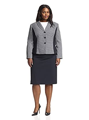 Tahari by ASL Plus Women's Combo Skirt Suit