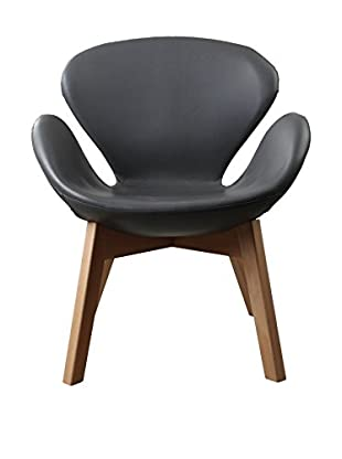 LO+DEMODA Sillón Swan Wood Arms Gris