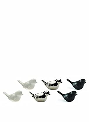 Chive Set of 6 Nature Tail Up Birds