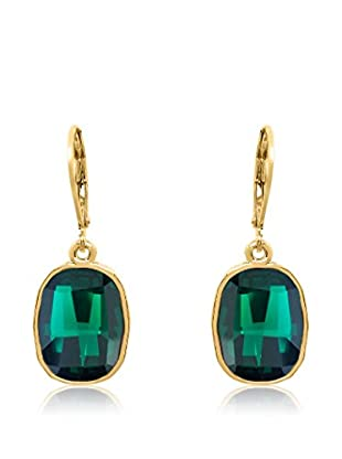 Philippa Pendientes Graphic Fancy metal bañado en oro 24 ct