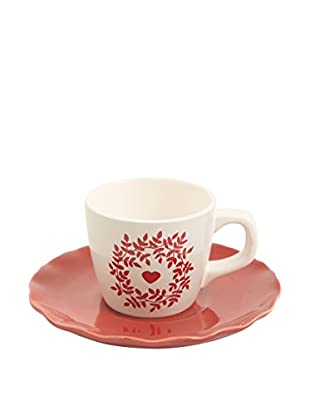 GALILEO Kaffeetasse mit Untertasse 6er Set Cottage