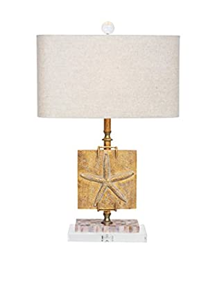 Couture Ponte Vedra 1-Light Table Lamp, India Gold/Mother of Pearl/Optic Crystal