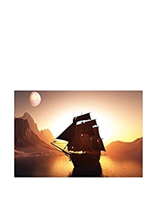 Best seller living Leinwandbild Sunset And Ship