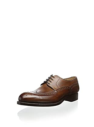 Carlos Santos Men's Lasgo Welted Wingtip with Gold Perfs (Brown)